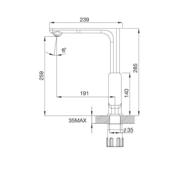 Vòi Đồng Thau Mạ Chrome K298C