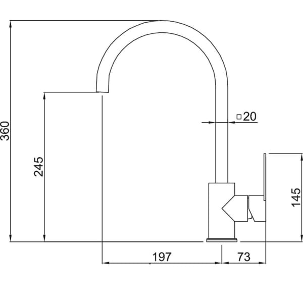 Vòi chậu rửa chén MF-073