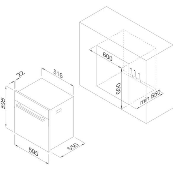 Lò nướng điện âm tủ Malloca MOv-575 AMG