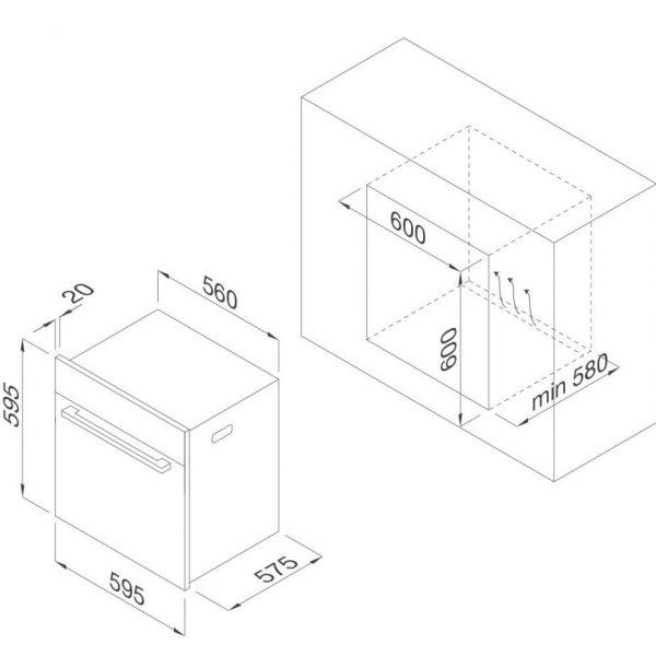 Lò nướng điện âm tủ Malloca MOv-659S