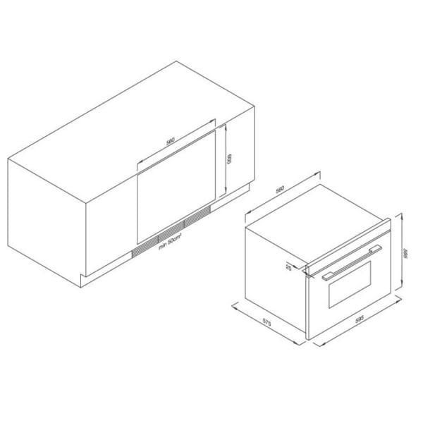Lò nướng điện âm tủ Malloca MOv-65DE