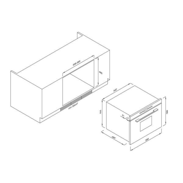 Lò nướng âm tủ 8 chức năng Malloca MOv35-IX03 (TRẮnG)