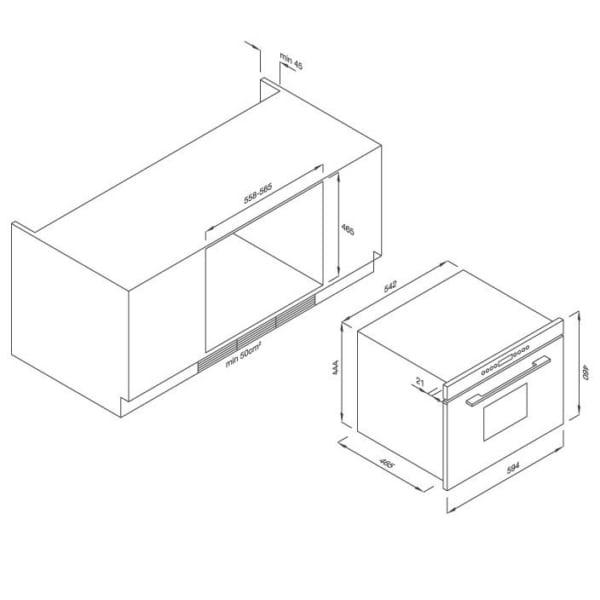 Lò hấp âm tủ Malloca MST35-IX03