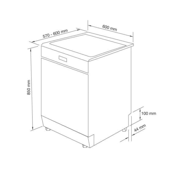 Máy rửa chén đứng độc lập WQP12-J7205P