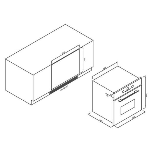 Lò nướng âm tủ 8 chức năng Malloca EB-56ERCDG-8C11