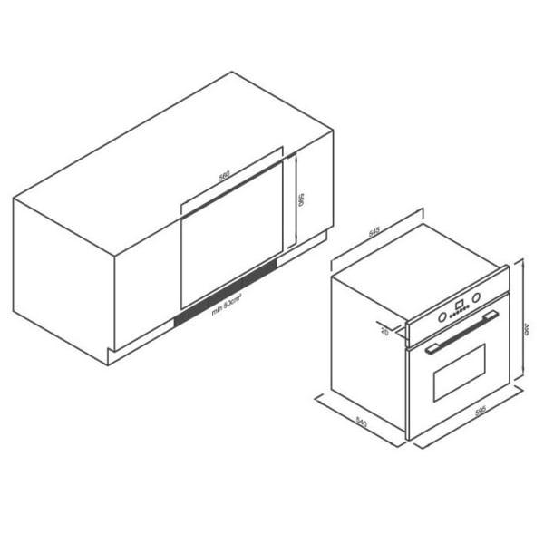 Lò nướng điện âm tủ 8 chức năng EB-56ERCD3G-P8BC42
