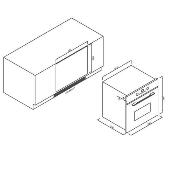 Lò nướng điện âm tủ 5 chức năng EB-56ERG-5BC15