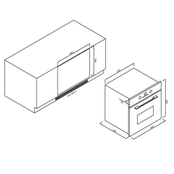 Lò nướng điện âm tủ 5 chức năng EB-56ERG-5C11