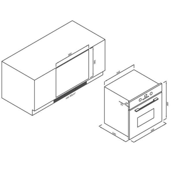 Lò nướng điện âm tủ 8 chức năng Malloca EB-56ERCDG-P8BC15A