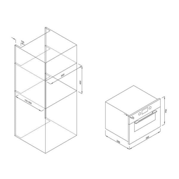 Lò nướng kết hợp Lò vi sóng âm tủ Malloca MW-944R