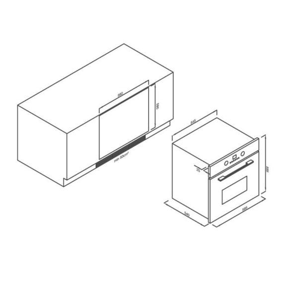 Lò nướng điện âm tủ 8 chức năng Malloca EB-56ERCDG-8BC40