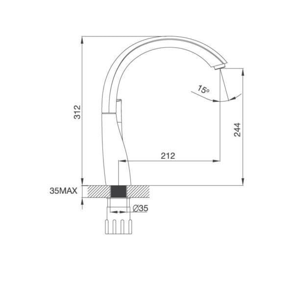 Vòi Đồng Thau Mạ Chrome K202C