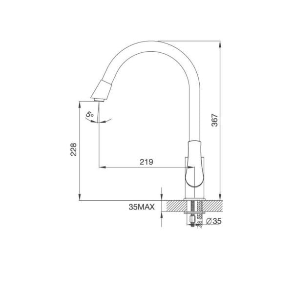Vòi Đồng Thau Mạ Chrome K279C