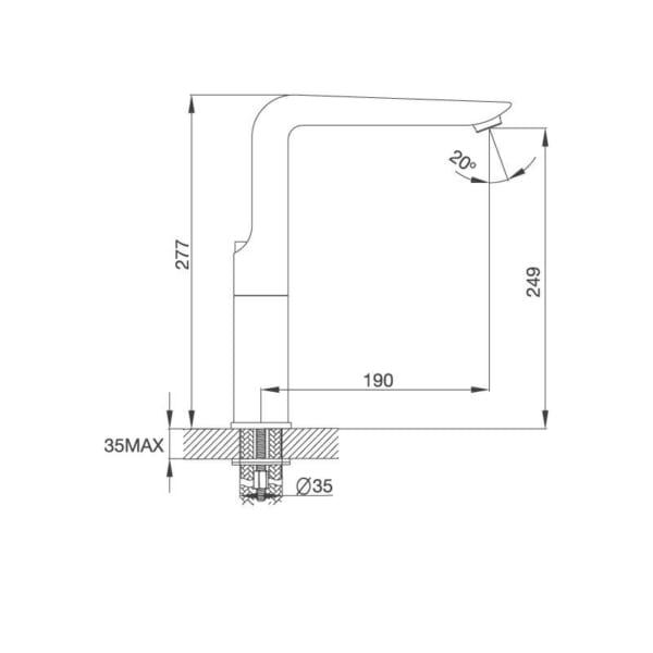 Vòi Đồng Thau Mạ Chrome K289C