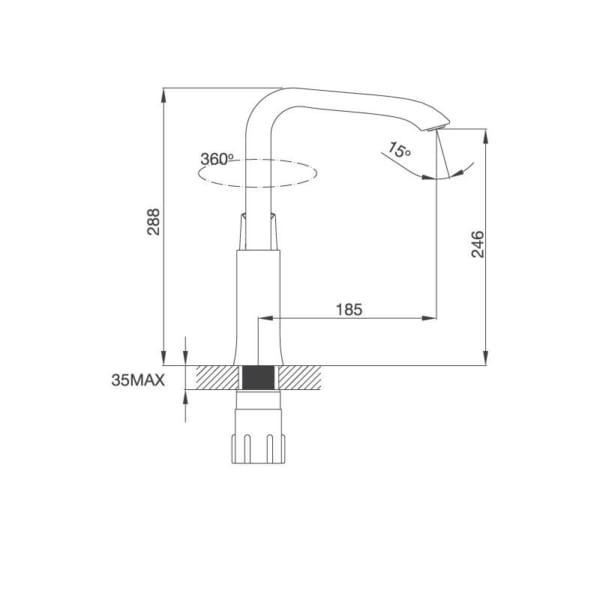 Vòi Đồng Thau Mạ Chrome K290C
