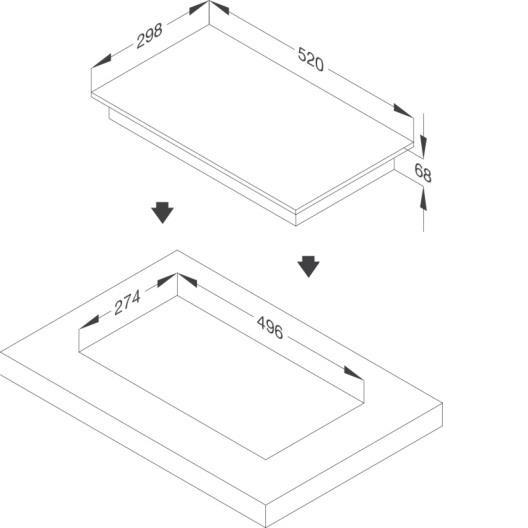 Malloca MDI 302 Bếp kính âm domino 2 từ