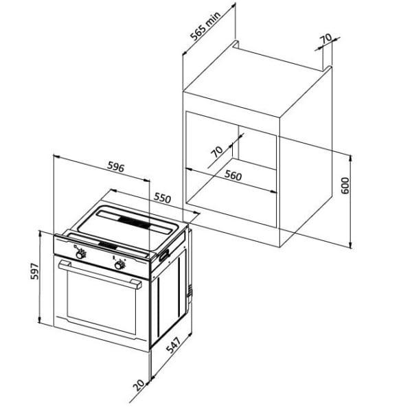 Malloca MOV-655EGT Lò nướng điện âm tủ