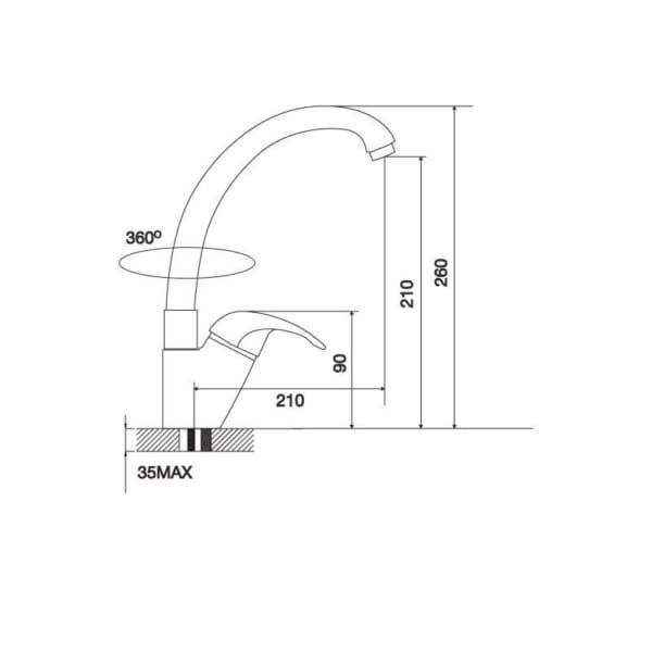 Vòi Đồng Thau Mạ Chrome K121