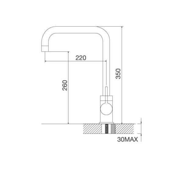 Vòi Inox 304-K123-BN
