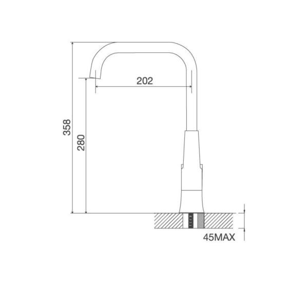 Vòi Đồng Thau Mạ Chrome K136A